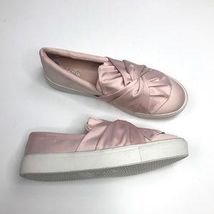 MIA zani sneakers slip on platform pink satin